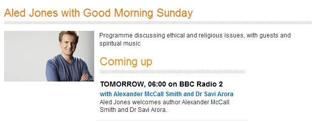 Good Morning Sunday Bbc : Media appearances saviarora